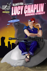 'Lucy Chaplin Science Starlet' Comic Book Cover by manson26