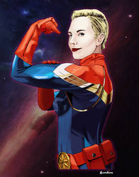 Captain Marvel by manson26