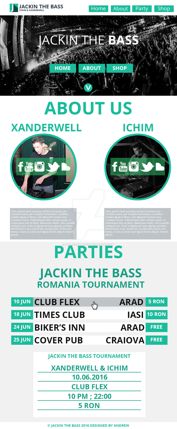 Jackin The Bass Site by andrewsgraffix