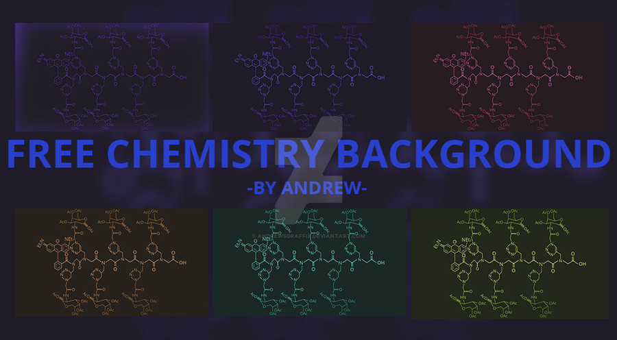 Free Chemistry Background 6 Variants by andrewsgraffix