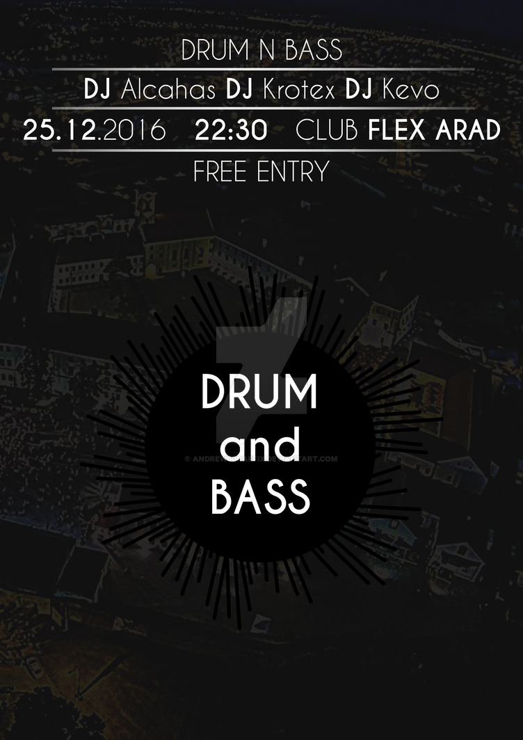 Poster Drum n Bass Event 25.12.2016 by andrewsgraffix