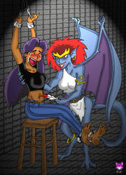 RETROPOST: Elisa and Demona by CheshireCaterling