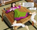 COMMISSION: Sango Tickled