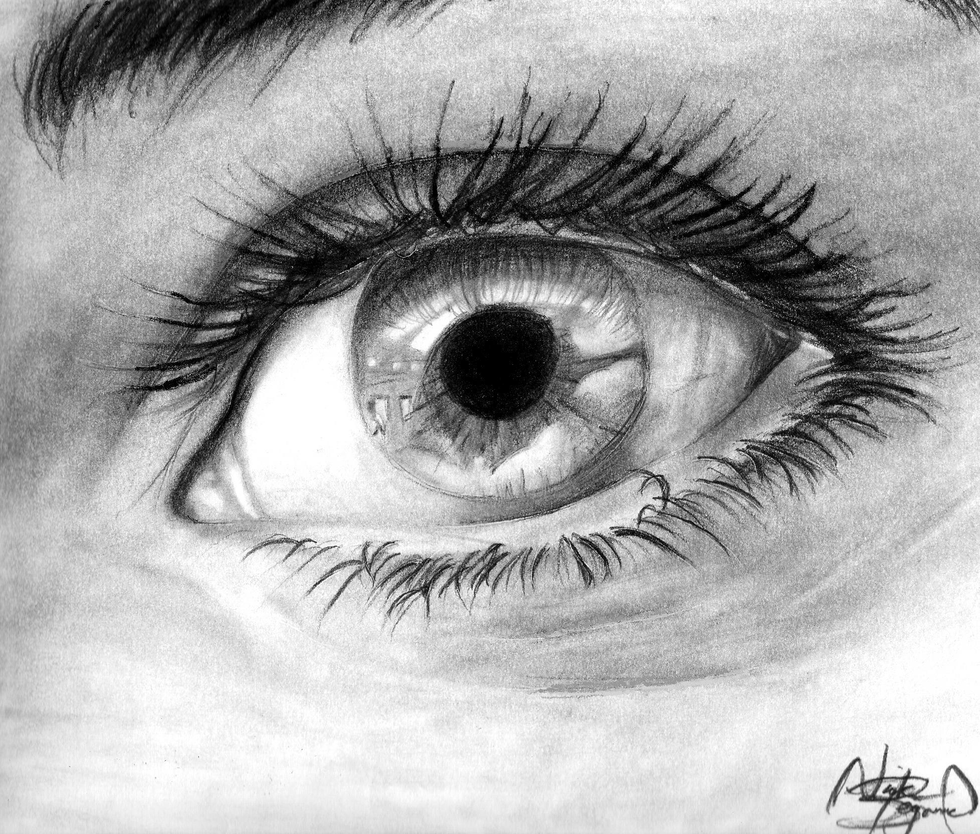 how to draw an eye from a photo