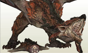 Project R O A R Rathalos Papercraft DIY