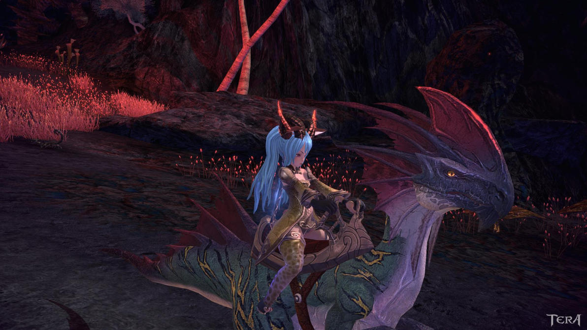 Riding Skill, Sparky (The Raptor Achievement) Tera_sparky_mount_and_the_return_of_fyote_n_guide_by_franchii_manchii-d6tksg0