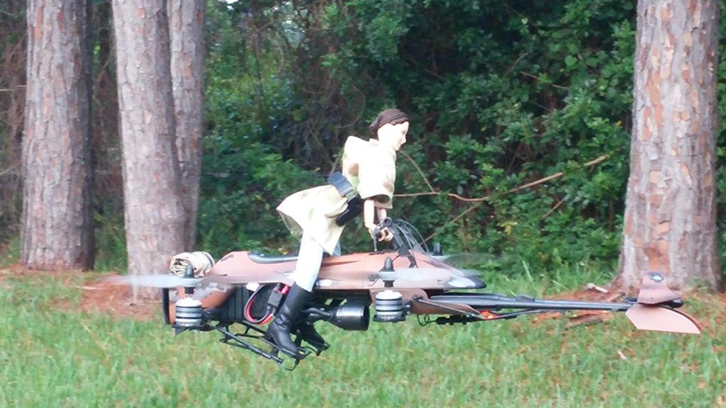 74 Z Star Wars Speeder Bike Quadcopter build