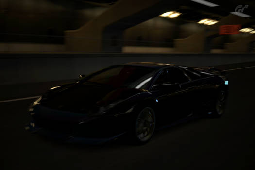 Lamborghini at the Tunnel in High Speed Ring