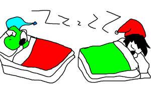 Yoshi and Me Sleeping