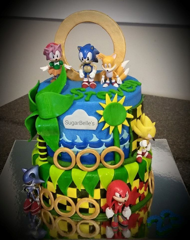 Sonic And Tails Cake