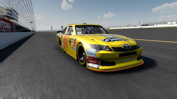 GoDaddy Yellow Toyota