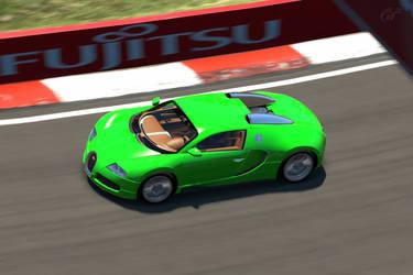 Electric Green Bugatti by SonicAndTailsfan64