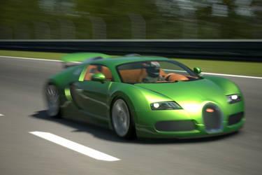 Metallic Green Bugatti by SonicAndTailsfan64