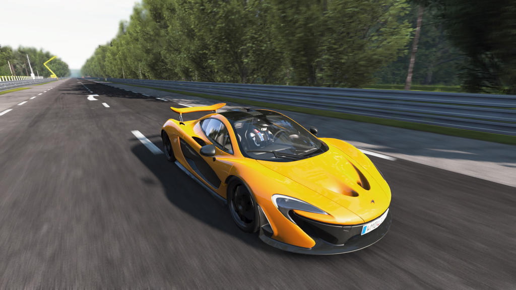 McLaren P1 in High Speed by SonicAndTailsfan64