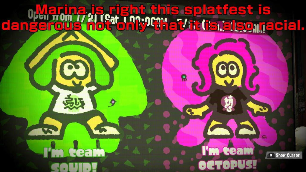 Next splatfest results: squid vs octopus (racism) by herofactory5120