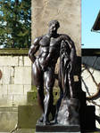 copper male statue