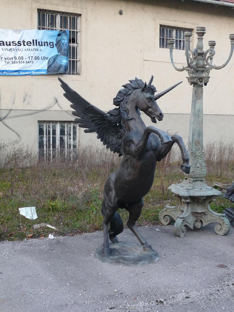 bronze unicorn by two-ladies-stocks