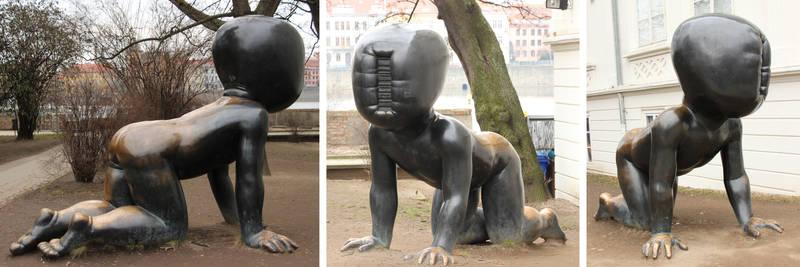 strange children sculptures