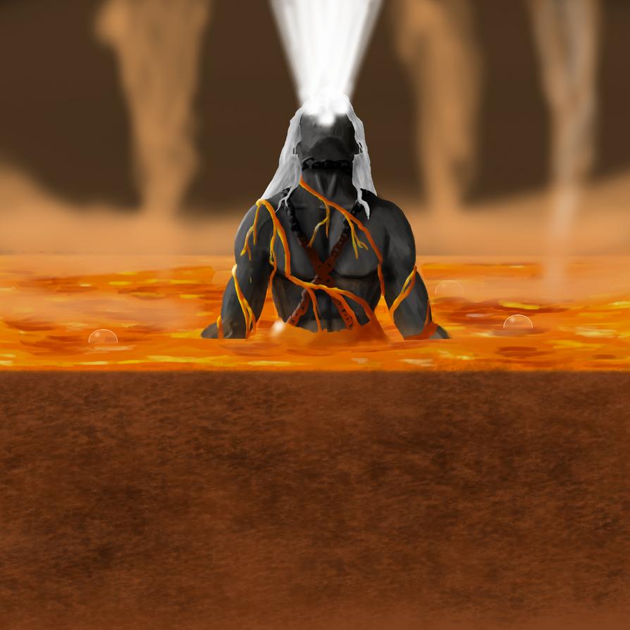 Ignis the Lava Demon by DragonJarod