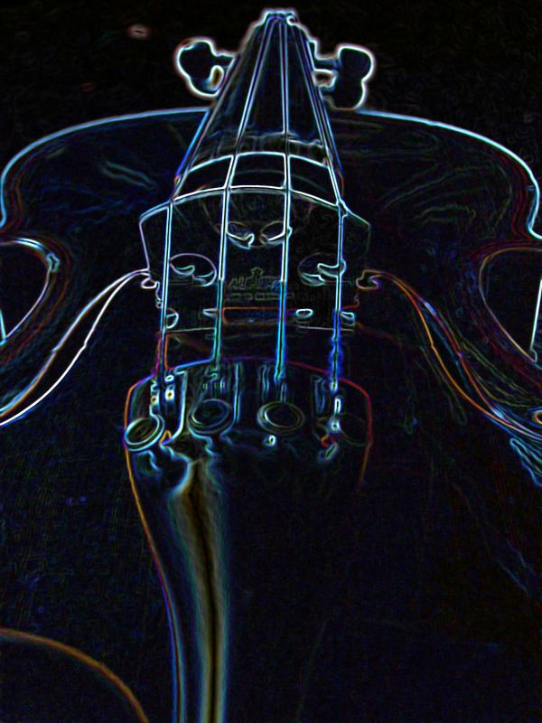 neon violin wallpaper - photo #9