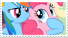 RainbowPie stamp by SweetLeafx
