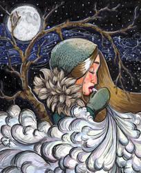 Winter Night by OnTheMountainTop
