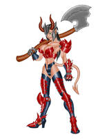 Demoness Warrior-Color by DieHard300
