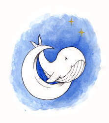 Inktober - Day 12 Whale