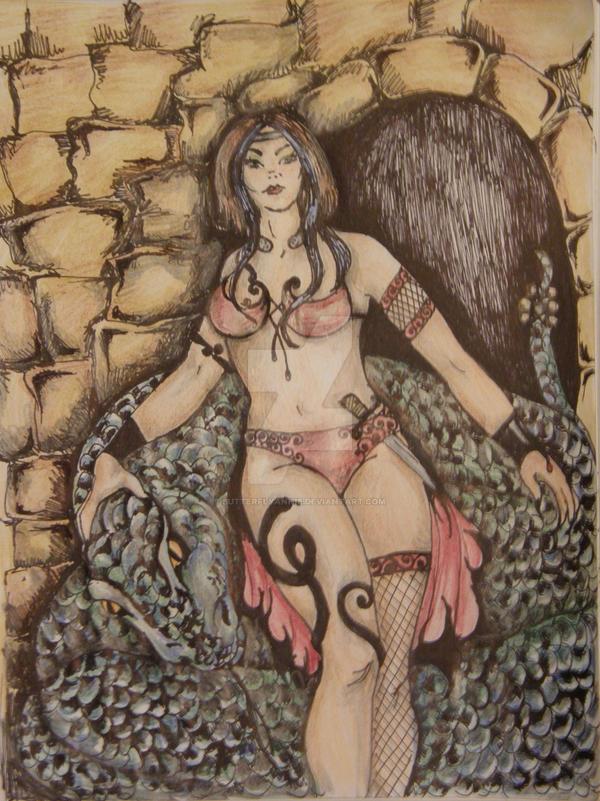 Warrior Snake Queen by butterflyannie