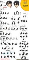 Kirito Sprite Sheet (SAO)