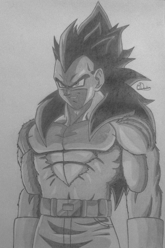 Vegeta Super Saiyan 4 by Conzibar