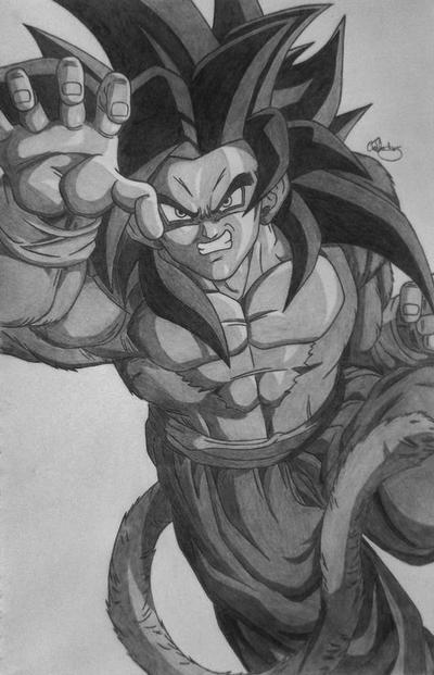 Goku Super Saiyan 4 Drawings Goku Super Saiyan 4 by