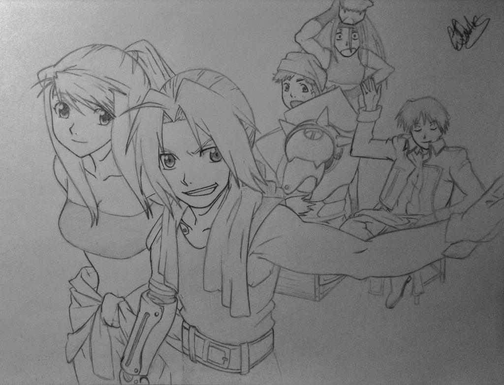 Ed And The Group WIP by Conzibar