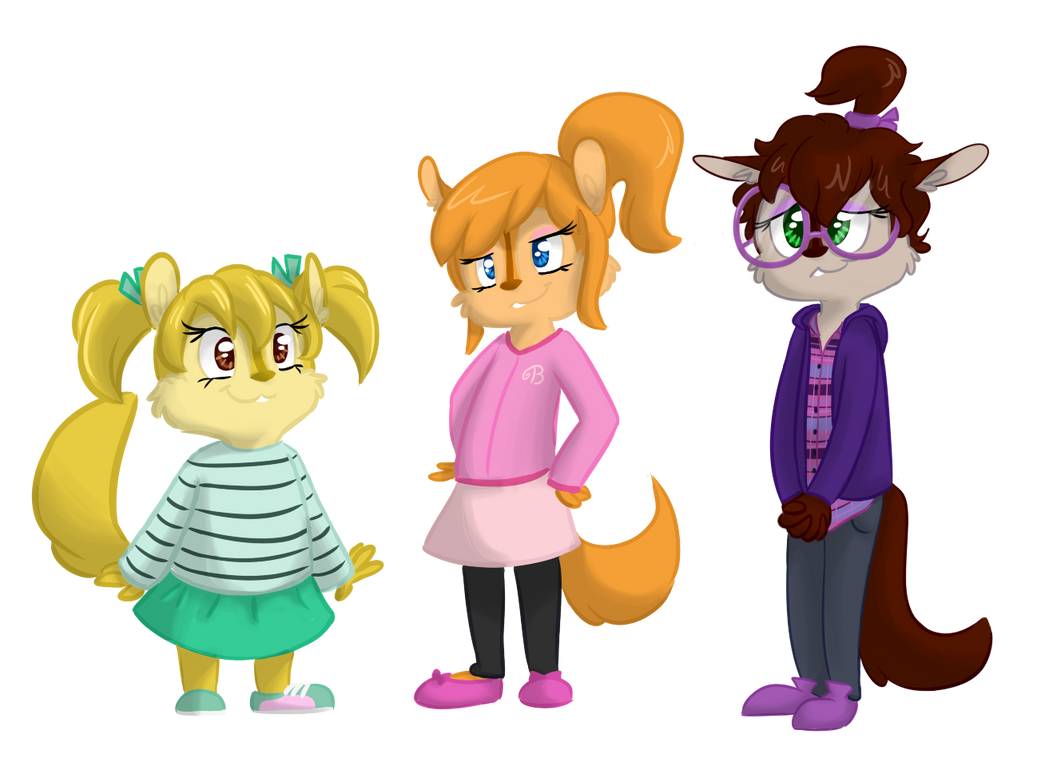 my ordered custom designs of the chipettes by XxalvinxX