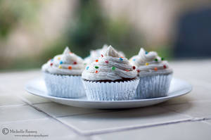 Polka Dot Cupcakes by MichelleRamey