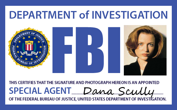 Fbi agent scully badge by lexistripes on deviantart - Fbi badge wallpaper ...