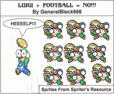 Luigi Plus Football Means NO by Colonel-Majora-777