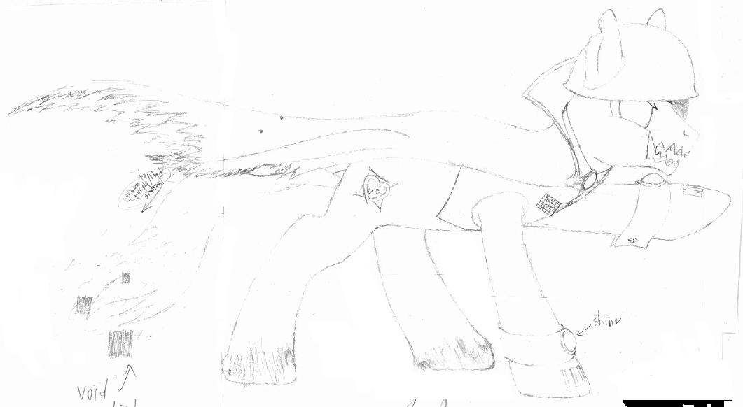 MLP:FiM OC: General Bleck (Base Sketch) by Colonel-Majora-777