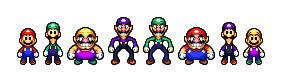 Marios, Warios, and Marios and Warios?