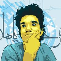 self vector portrait by mo7amedziada