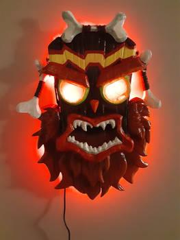 Angry Uka Uka! All lit up!