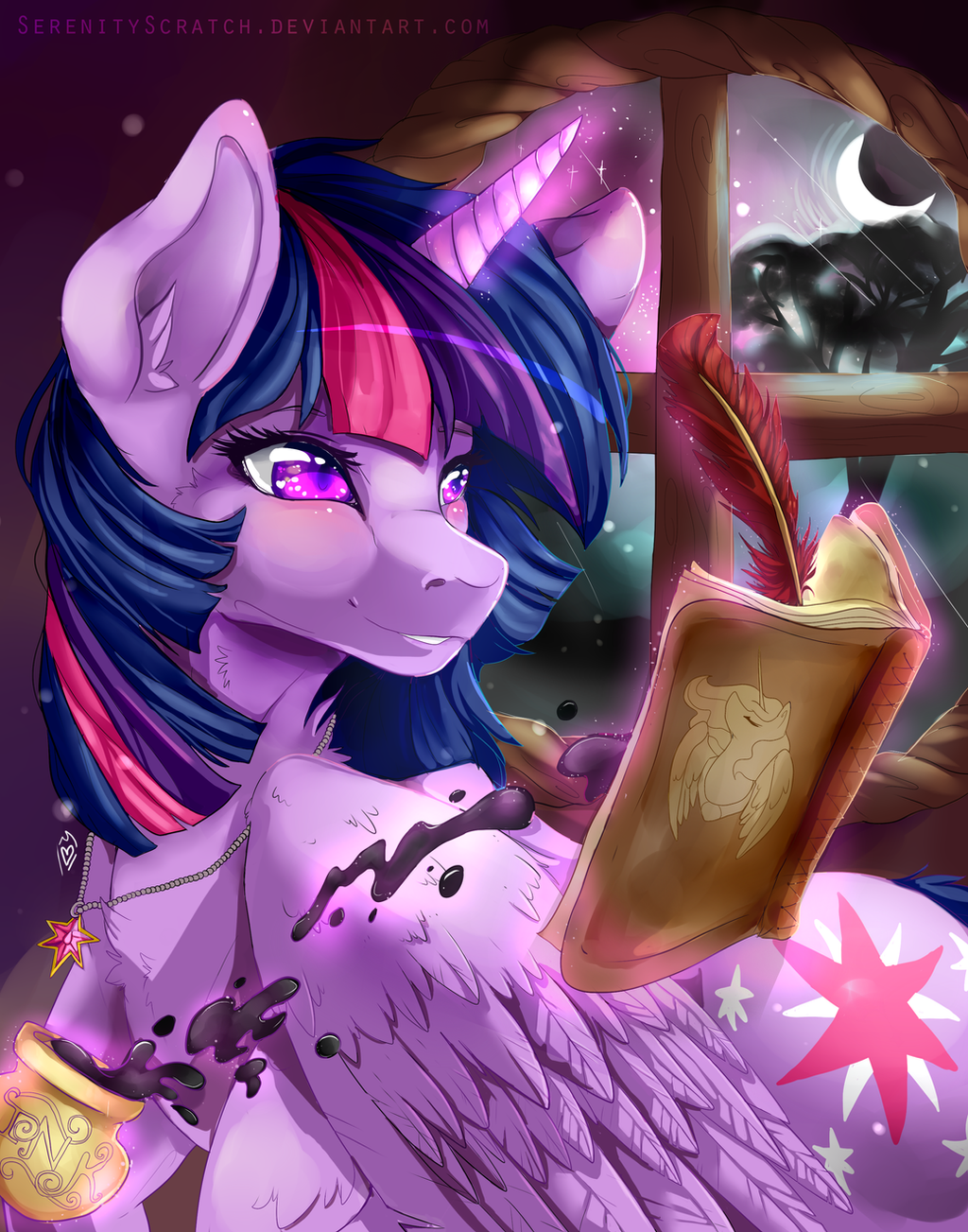 Twilight's Letters + Speedpaint by SerenityScratch
