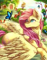 Fluttershy Flutters + Speedpaint by SerenityScratch
