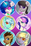 Background Ponies Button Pack