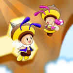 Toad and Toadette Bee Powerup
