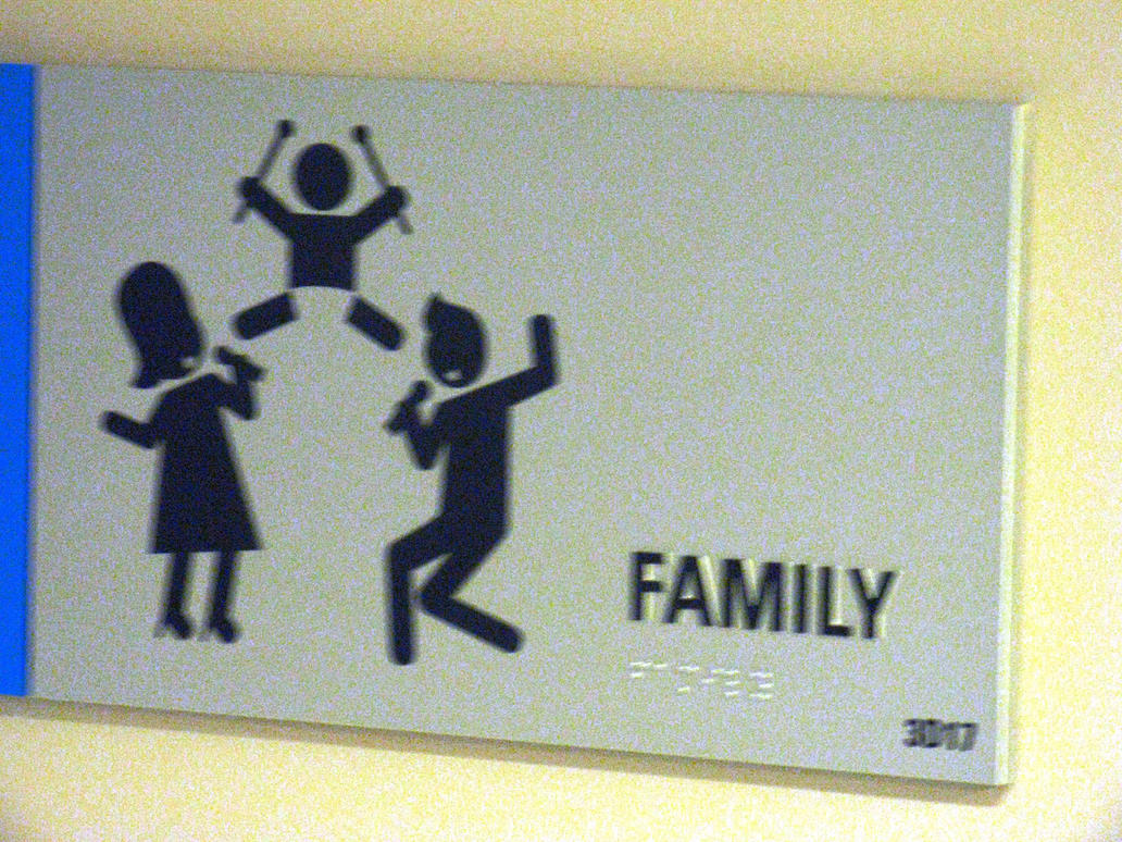 Family bathroom sign
