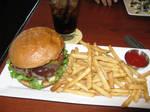 One messy Smokehouse Burger