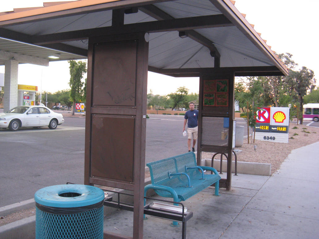 Bus Stop in Tempe by BigMac1212