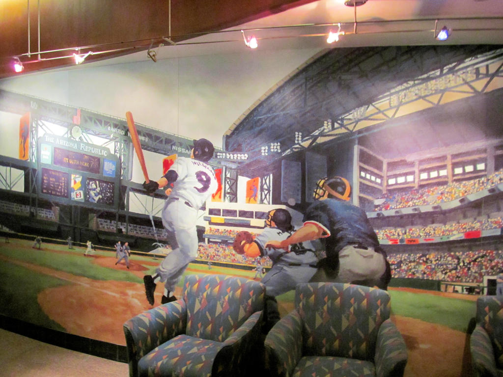 Az baseball club mural by bigmac1212 on deviantart for Baseball mural wallpaper
