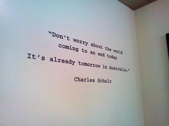 Humorous Charles Schulz Quote by BigMac1212